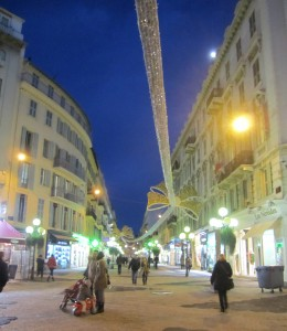Lovely pedestrian street in Nice - rue de France.